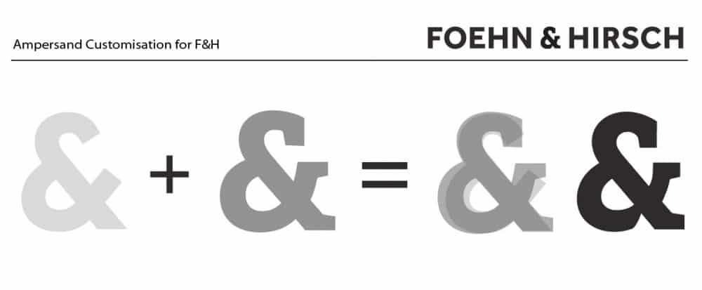 Ampersand Customisation 1 for F&H Desigend by The Logo Smith