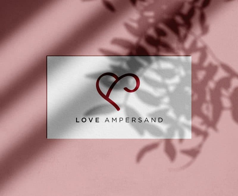 Love Ampersand Logo Design for Sale Designed by Freelance Logo & Visual Designer The Logo Smith Yellow