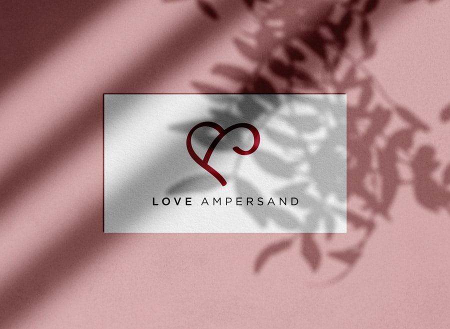 Love Ampersand Logo Design for Sale Designed by Freelance Logo & Visual Designer The Logo Smith Yellow