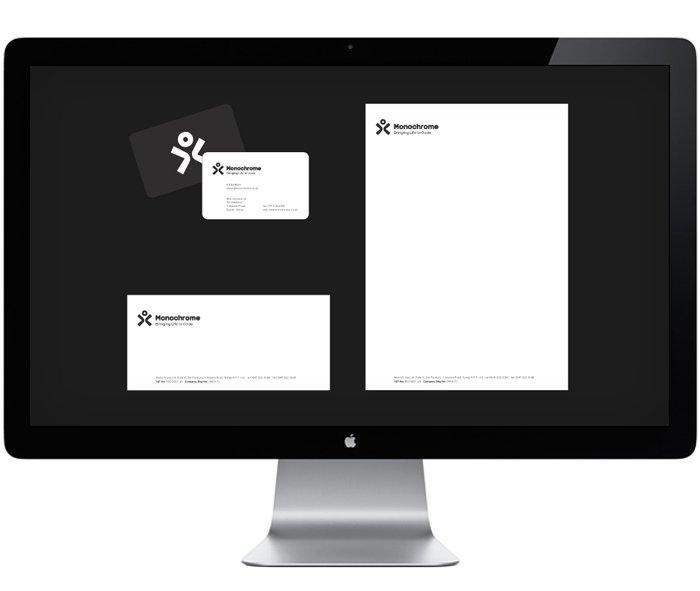 monochrome identity design