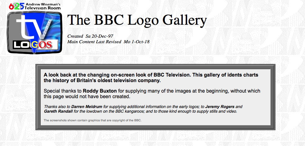 BBC Television Logos and Idents - The BBC Logo Gallery Archives from 1953 The BBC Logo Gallery