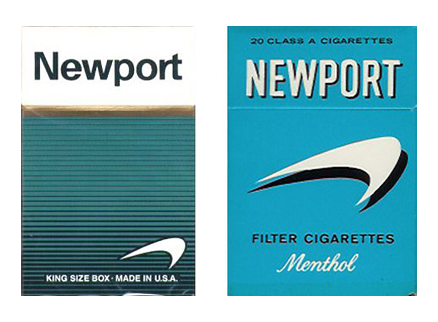 Newport Cigarette Swoosh Logo Packaging