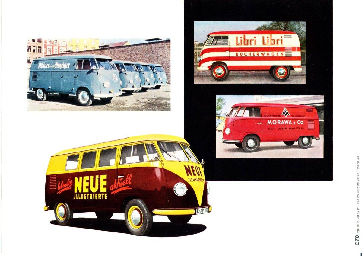 Vintage Barndoor Logo Flyers for the VW Bus