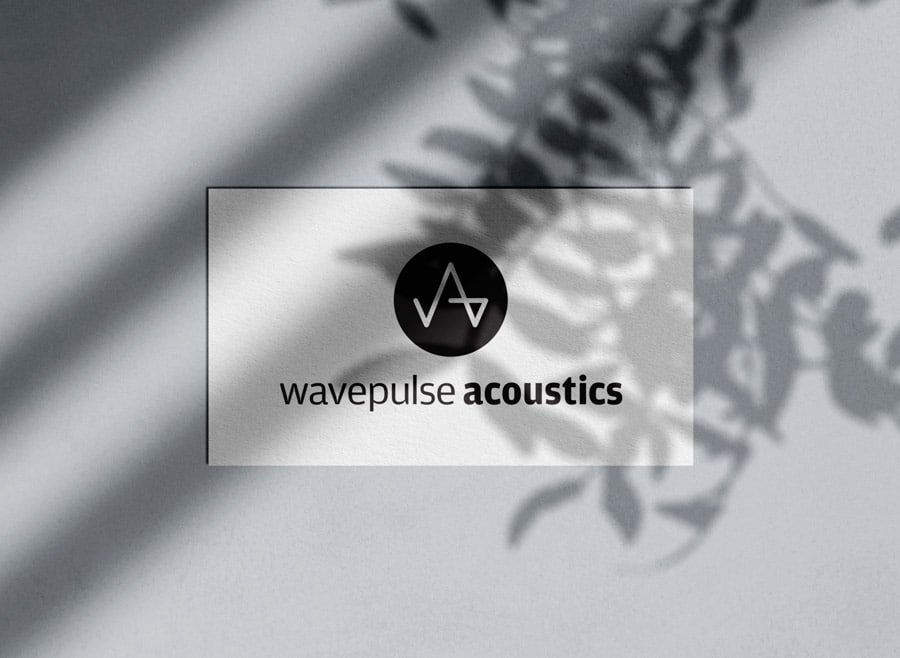 Wavepulse Acoustics Logo Designed by Freelance Logo Designer The Logo Smith