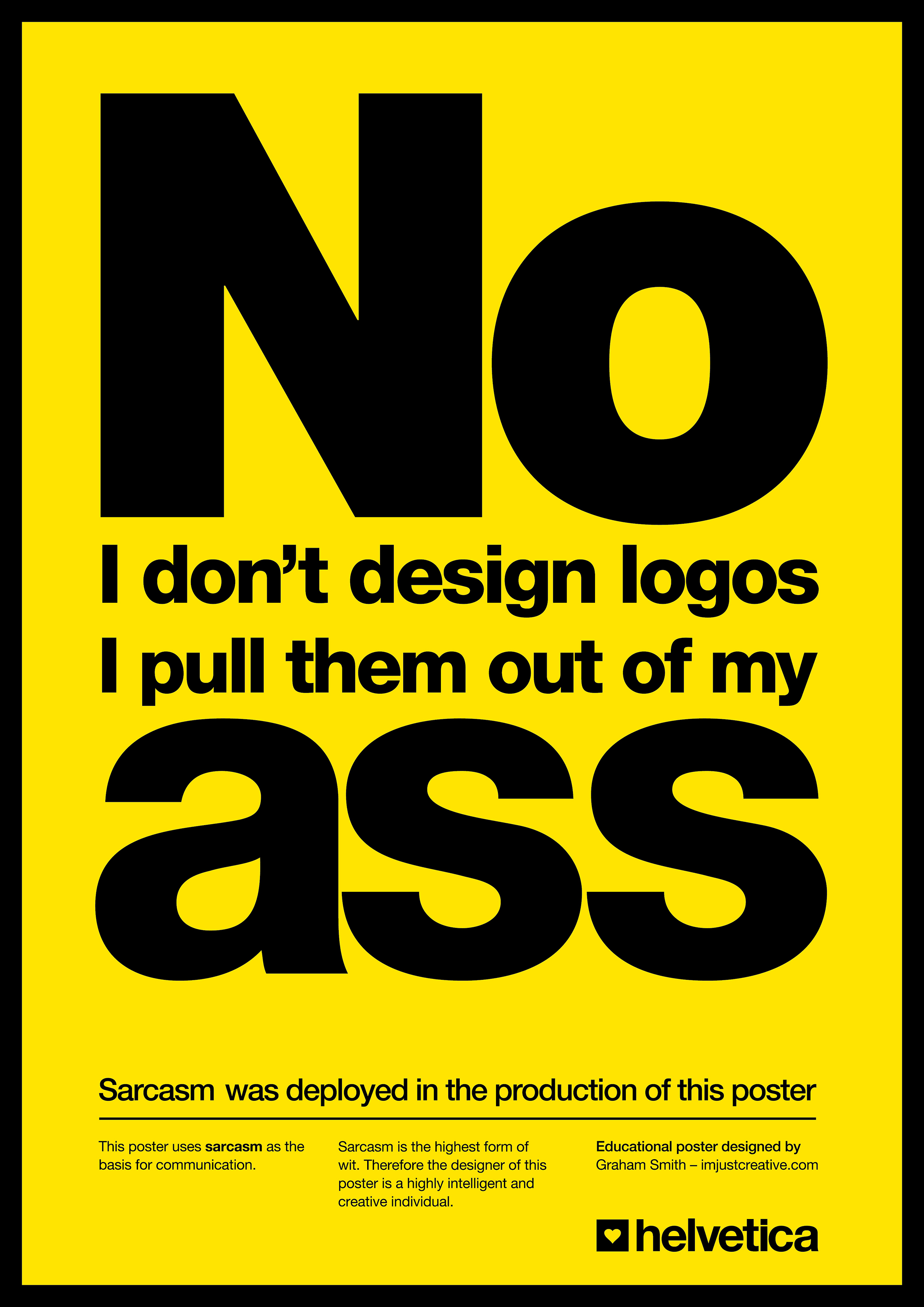No. I Don't Design Logos Poster