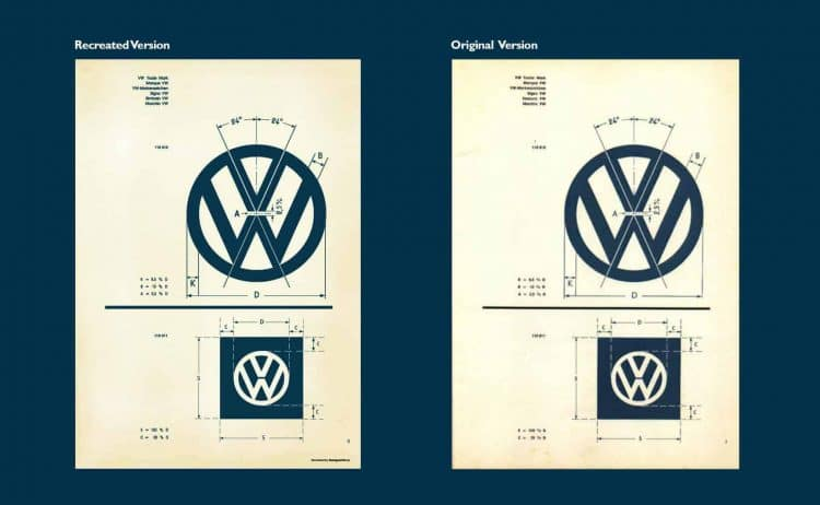 Recreated Vintage VW Specifications Poster for Download