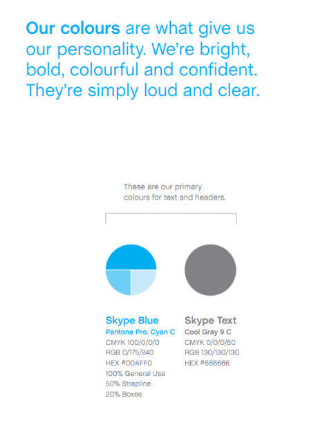 Skype Brand Identity Book and Logo Design Guidelines