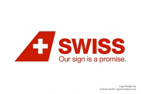 The New Swiss Airlines Logo & Brand Identity Redesign by Nose Design