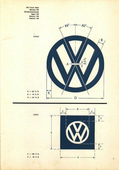 Original VW Vintage Logo Grid