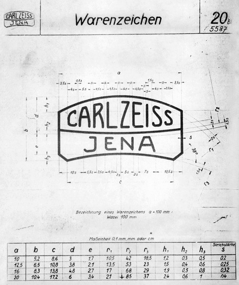 Carl Zeiss Jenna Vintage Logo Specifications
