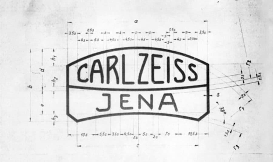 Vintage Carl Zeiss Jenna Logo Specification Sheet