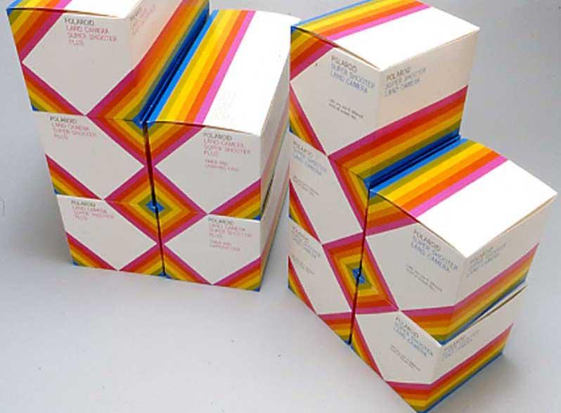 Vintage Polaroid Branding and Packaging by Paul Giambarba