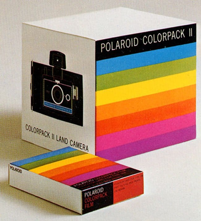 Vintage Polaroid Branding and Packaging by Paul Giambarba