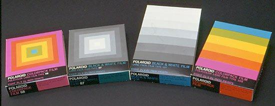 Original Polaroid Branding and Packaging by Paul Giambarba