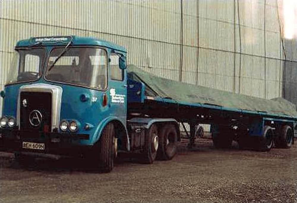 British Steel Lorry