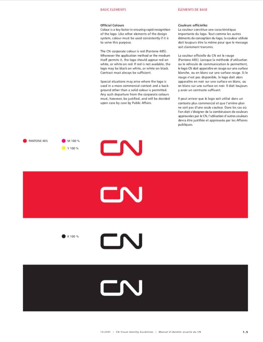 Canadian National Railway Company CN Visual Identity Guidelines
