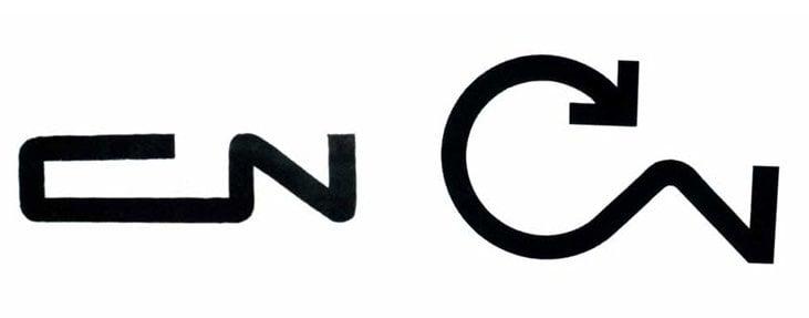 CN Logo Sketches by Allan Fleming