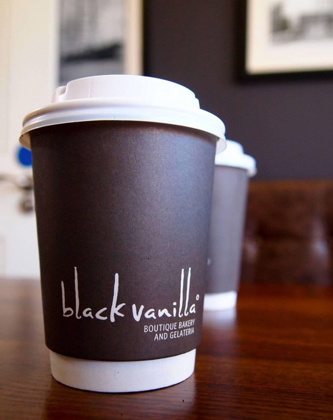 Black Vanilla Gelateria Logo Design