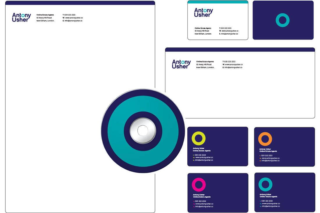 Estate Agent Logo Design Brand dentity Stationery design