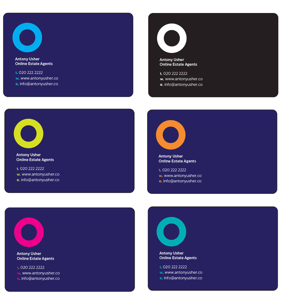 Estate Agent Logo Design Business Cards