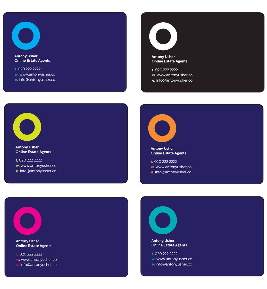 Estate Agent Logo Design Business Cards
