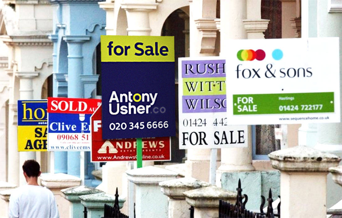 Estate Agent Logo For Sale Sold Board