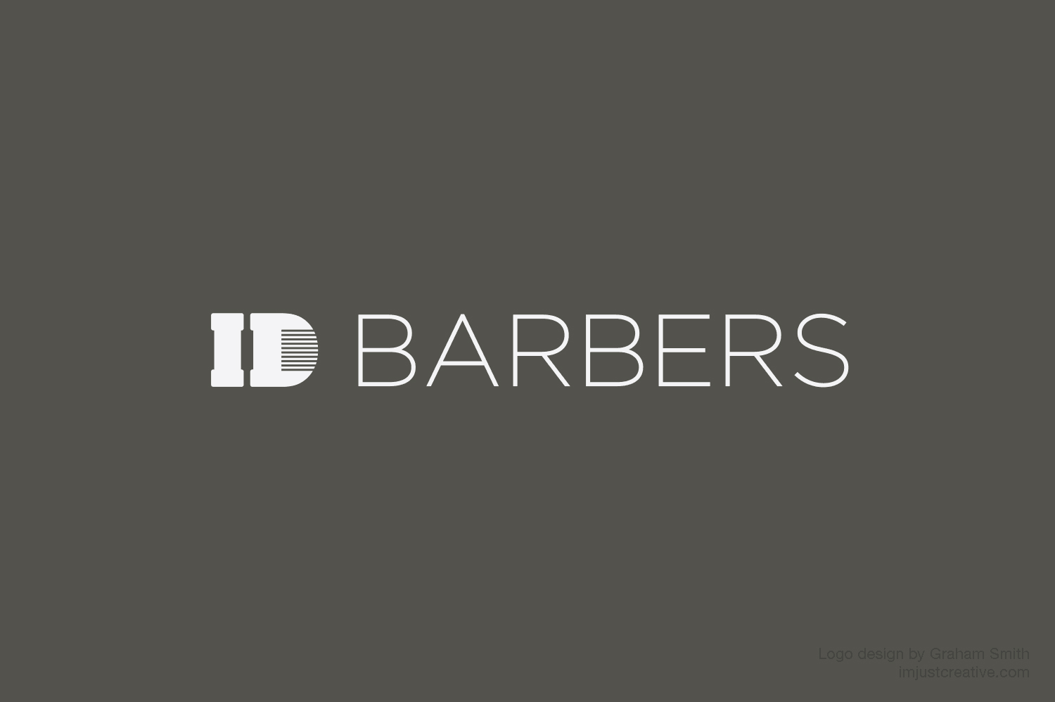 ID Barbers & Hairdressers Logo & Brand Identity Designed by Freelance Logo Designer The Logo Smith.