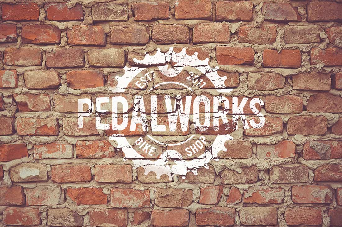 Pedal Works Bike Shop Logo & Brand Identity Designed by The Logo Smith