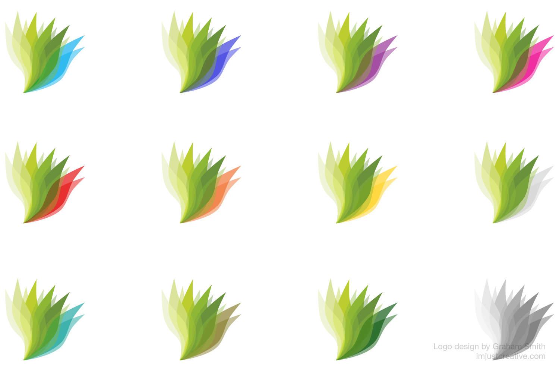 The Zen Web logo design colours by graham smith