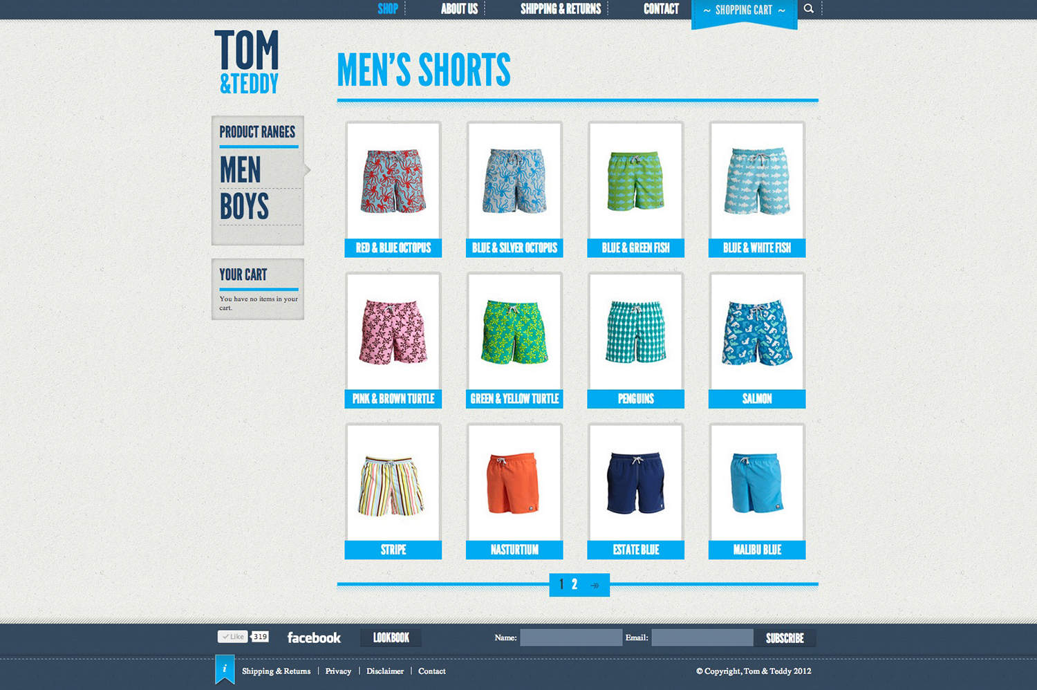 TomandTeddy website