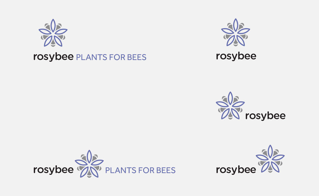 Logo Portfolio and Monomark for RosyBee Plants for Bees Logo Designed by The Logo Smith