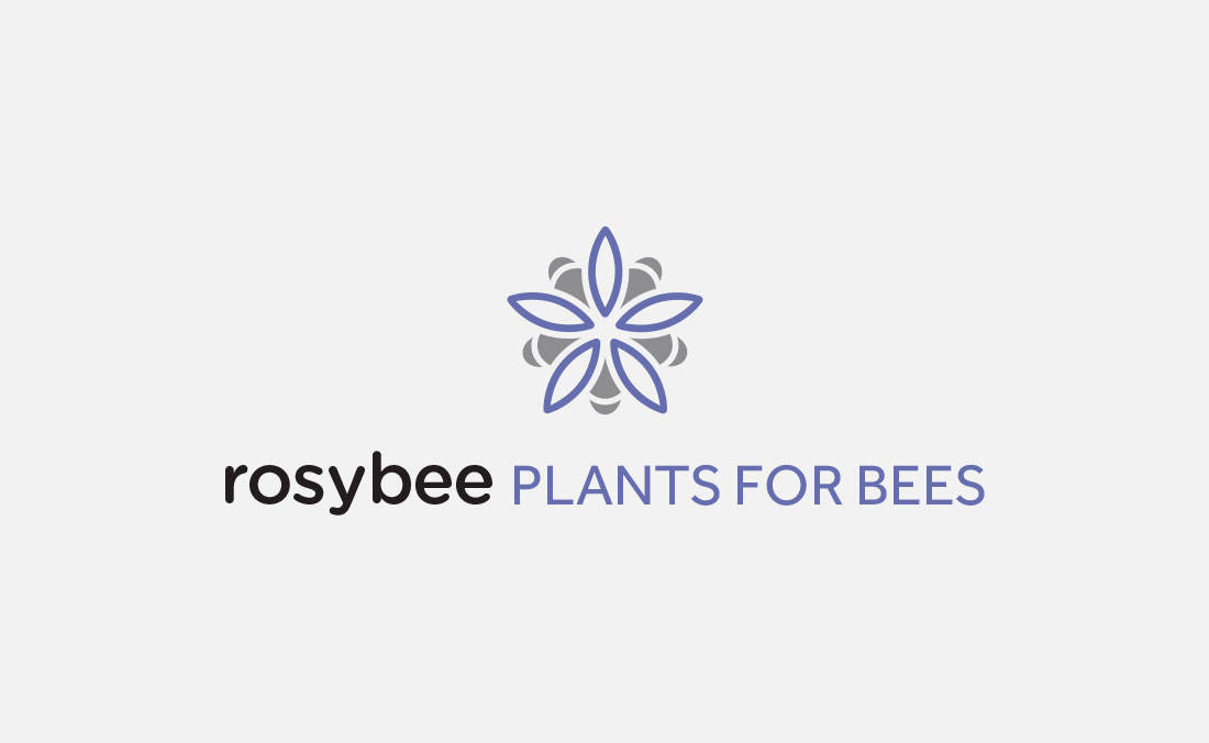 rosybee-plants-for-bees-logo-design-by-the-logo-smith
