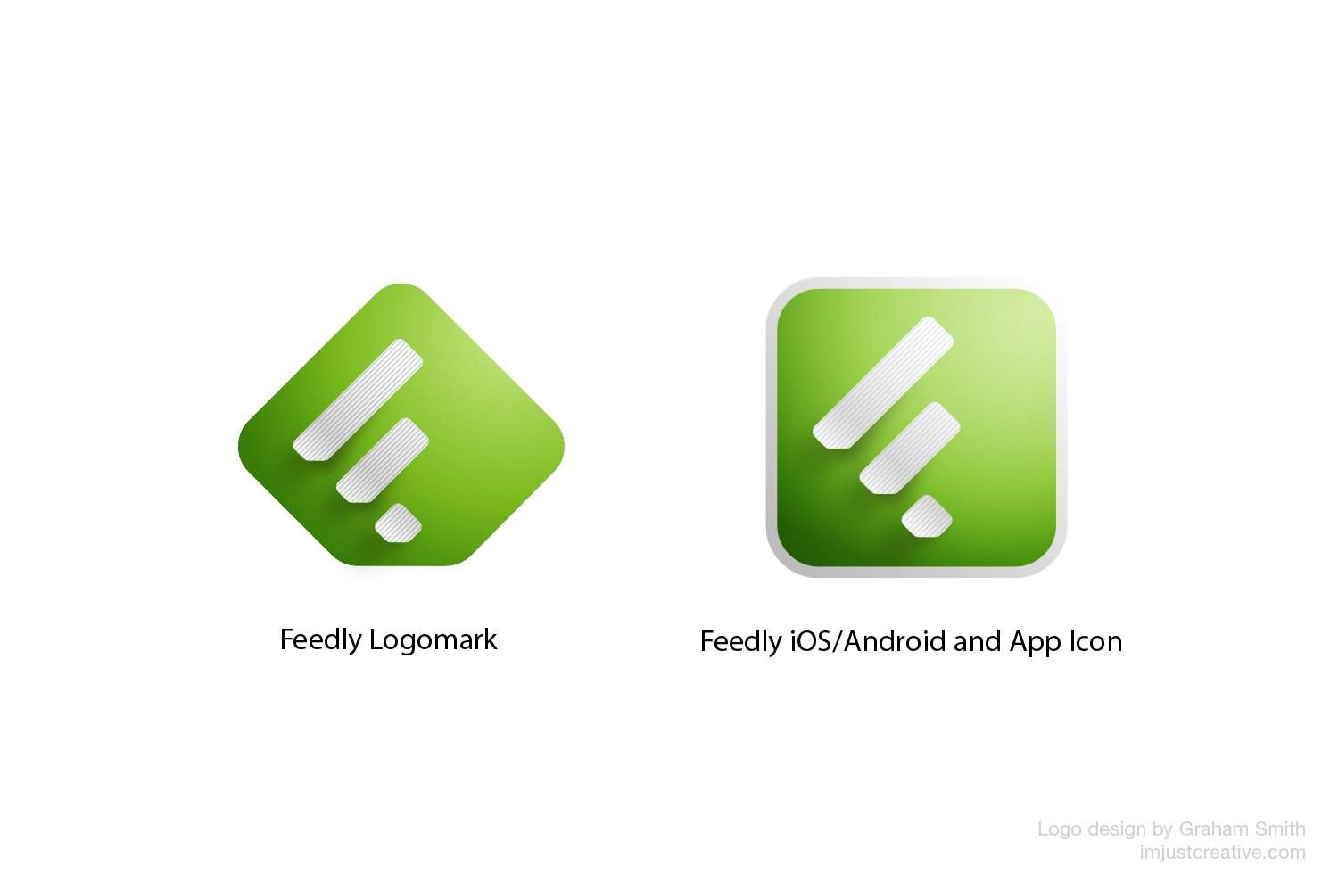 Feedly logo and app icons design by imjustcreative