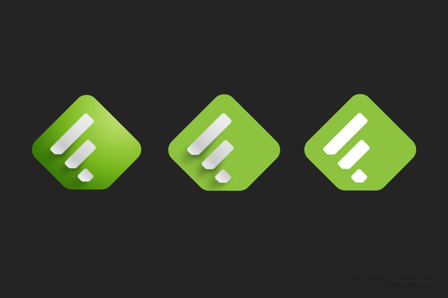 Feedly logo versions 1 design by imjustcreative