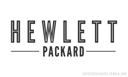 hipster branding hewlett packard logo design