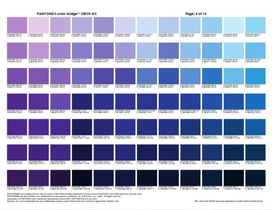 Pantone color bridge cmyk ec cheat sheets - Pantone tollens ...