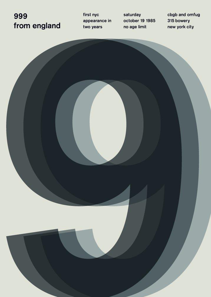 999 Typographic Poster