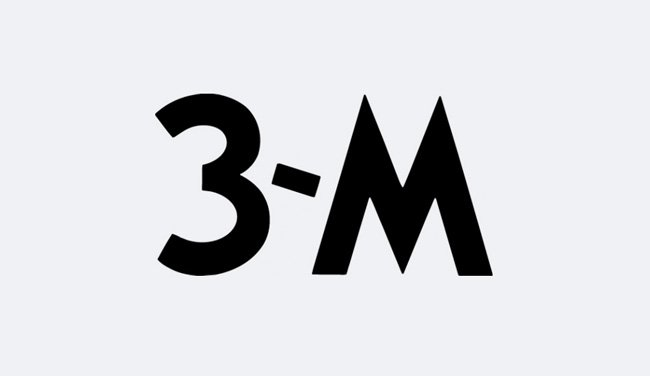 Evolution of the 3M Logo Design - 1944 I
