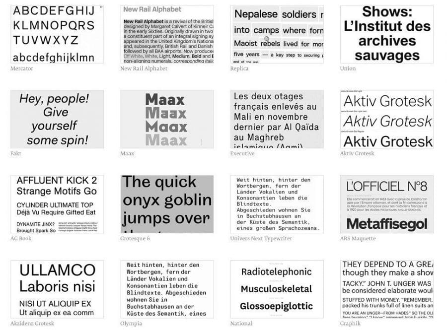 Helvetica Font Alternatives from Typecache