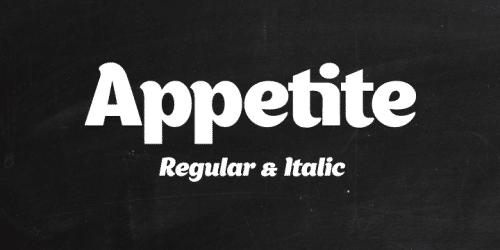appetite font by Denis Serebryakov