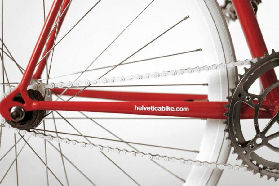 Helvetica Bike by Borja Garcia Studio