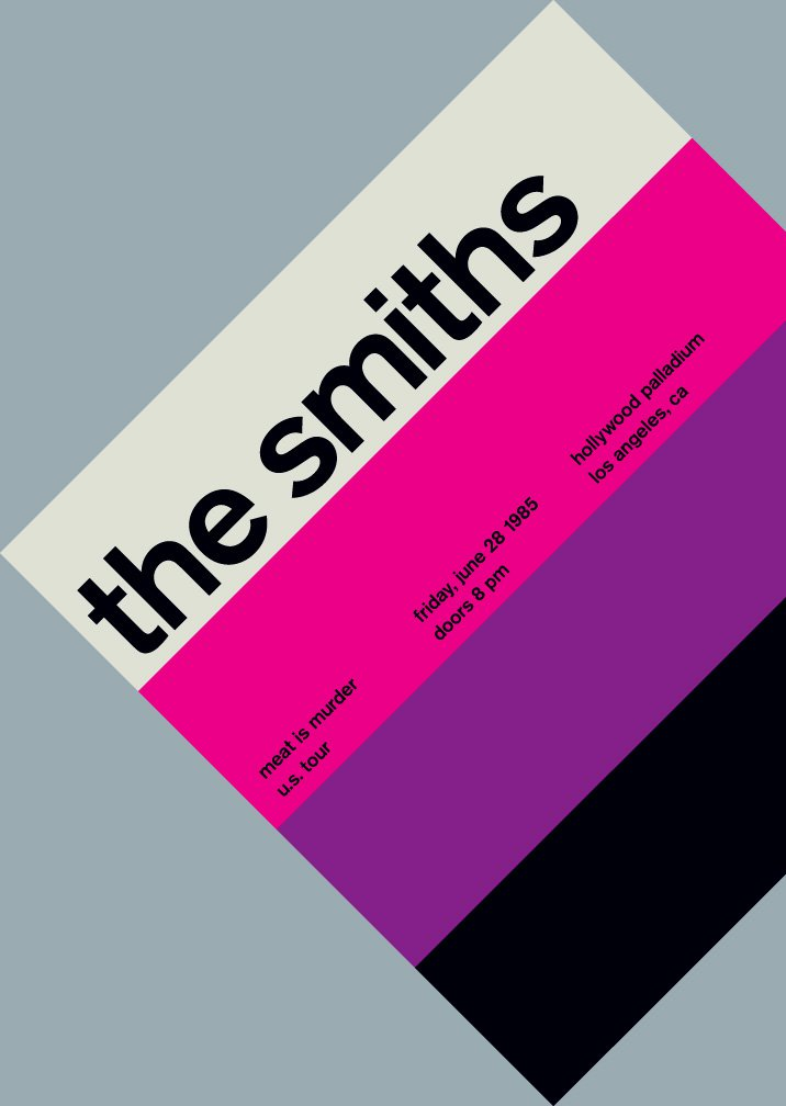 Smiths Typographic Poster