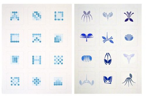 Tangram logo deconstructions