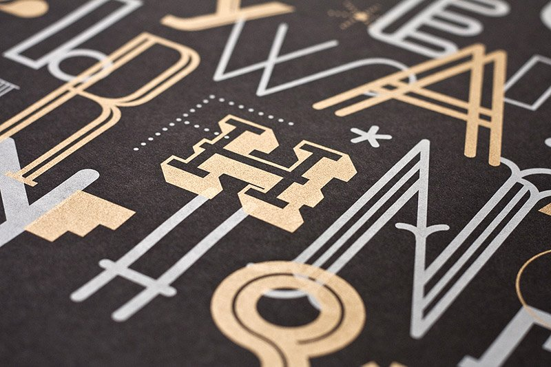 The Letters Typographic Poster by Skinny Ships