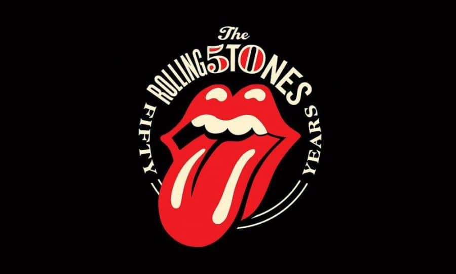 Digging the new rolling stones 50th anniversary logo by shepard fairey