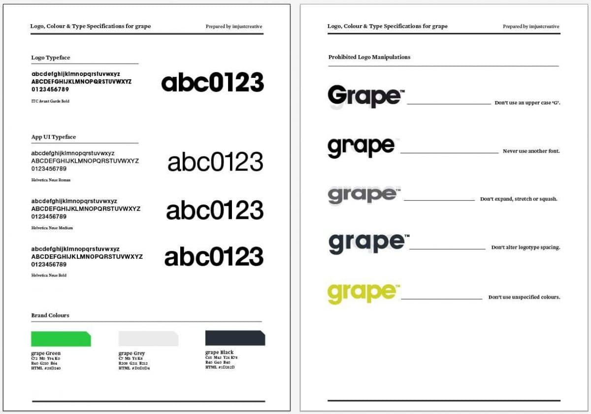 Grape Logo Specification Guidelines