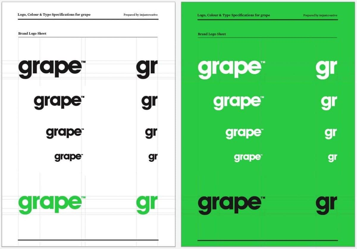 Grape Logo Specification Book