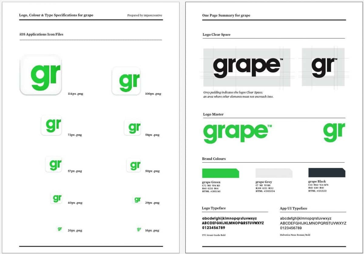 8 page freelance logo design specification template
