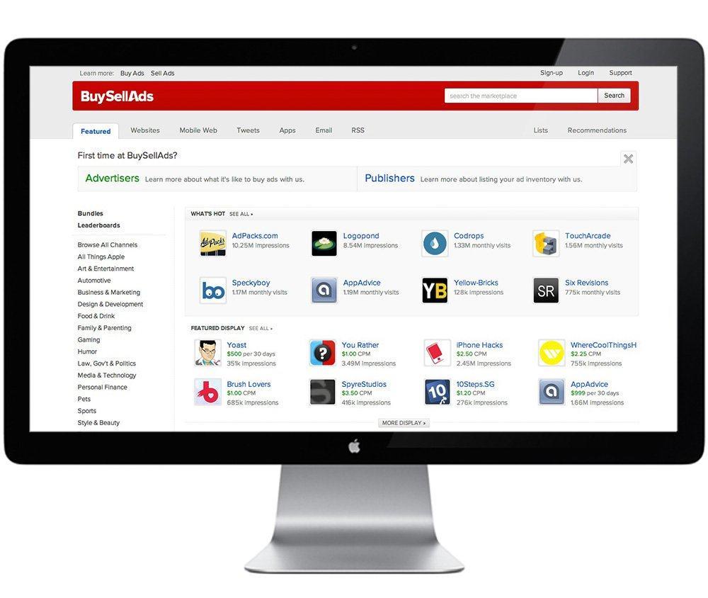 BSA Website Screen 1