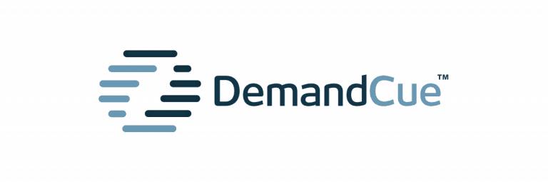 DemandCue Logo Designed by The Logo Smith-White